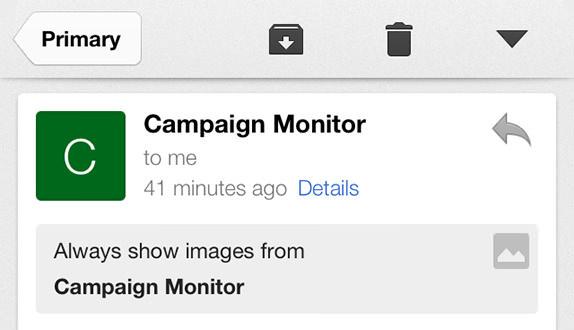 Whitelist gmail ios