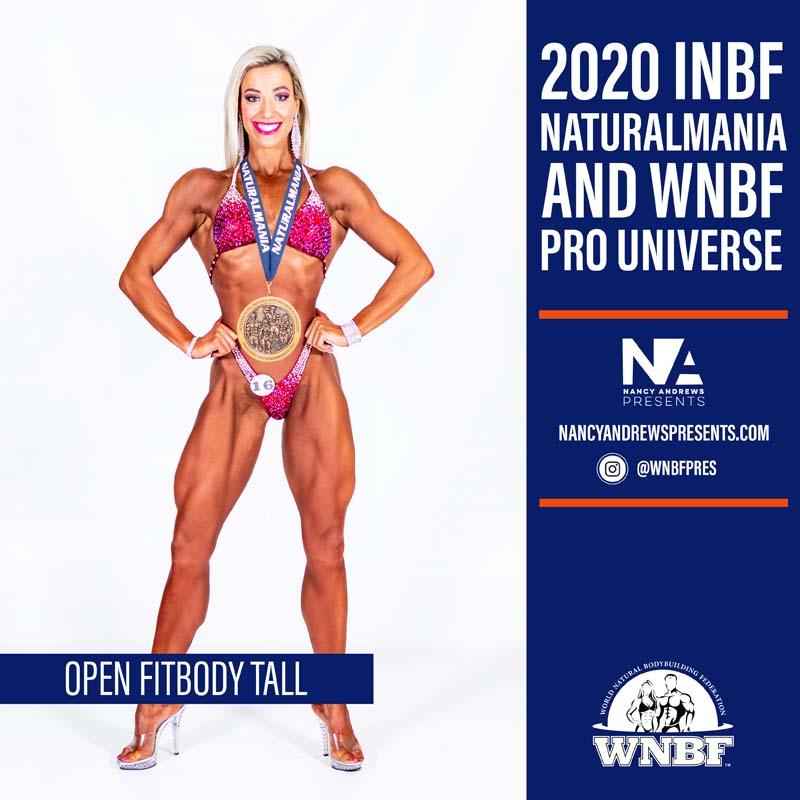 2020 INBF Naturalmania Open Fitbody Tall